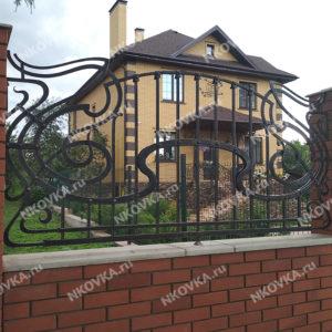 кованый забор модерн