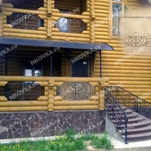 кованое крыльцо в деревянный дом