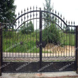 бюджетные кованые ворота