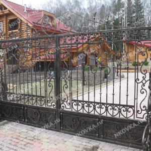 кованые прозрачные ворота