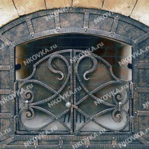 кованые дверцы в камин
