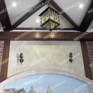 кованый фонарь в дом